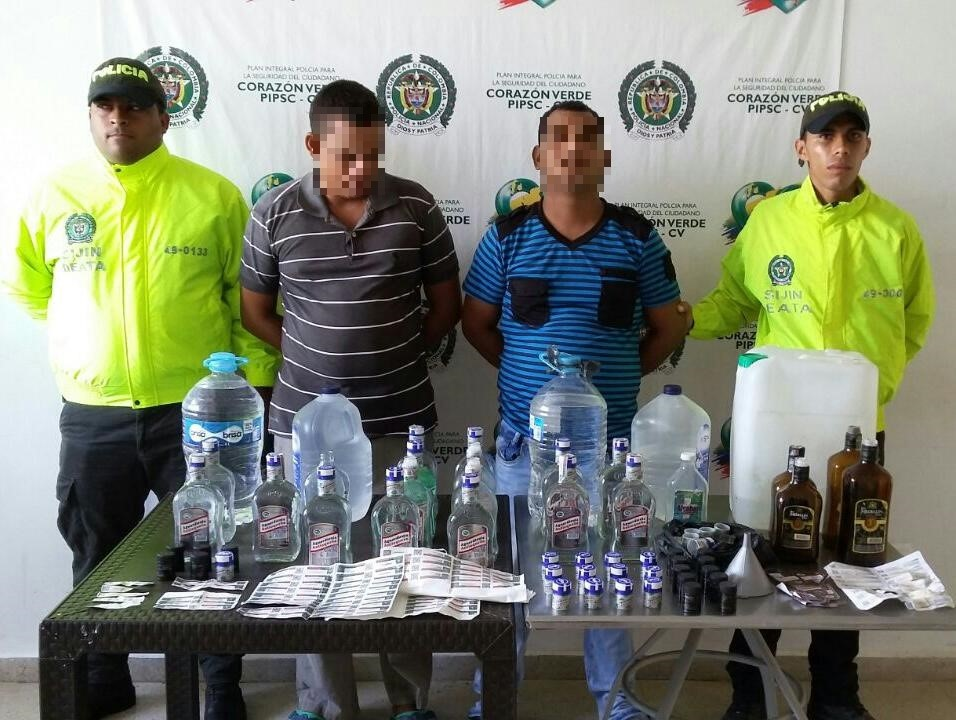 capturados licor adulterado