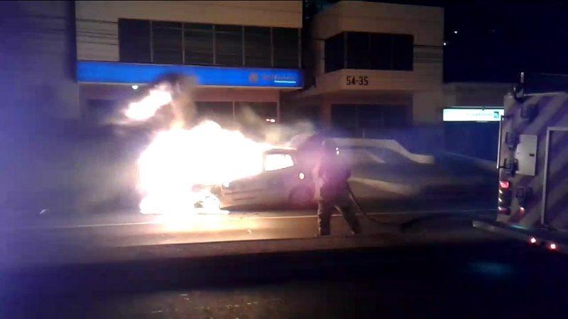 taxi incendio