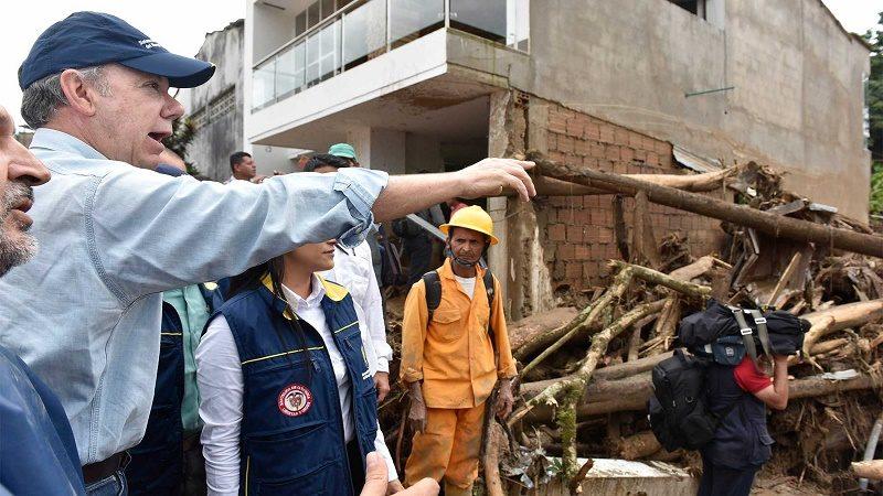El Presidente Juan Manuel Santos lidera las labores de asistencia a las víctimas de la tragedia en Mocoa y coordina los equipos de asistencia de las entidades de Gobierno dispuestos para enfrentar la emergencia.