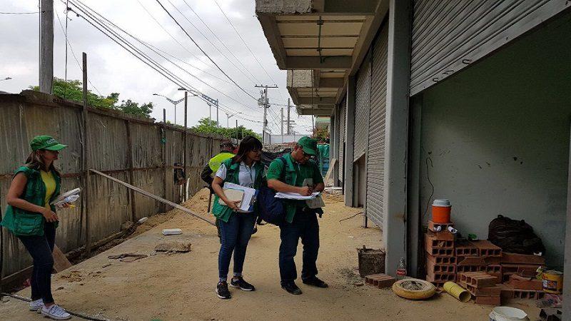 Alcaldía suspendió cuatro obras sin licencias de construcción en Barranquilla