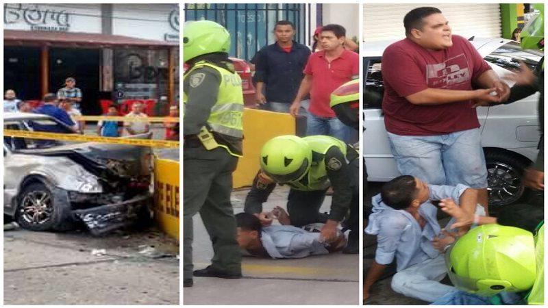 Atracaron, arrollaron a dos personas y se estrellaron contra un muro