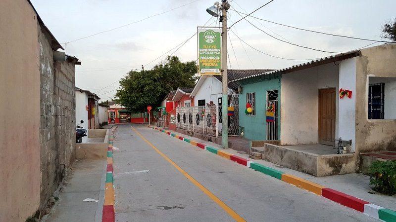Barrio Carrizal de Barranquilla estrena cinco calles pavimentadas