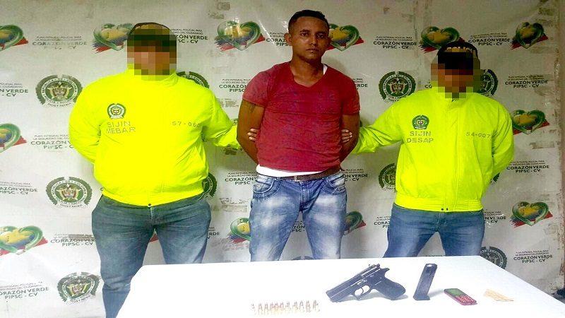 Capturan a presunto sicario que asesinó al Auxiliar de Policía en el barrio San Luis