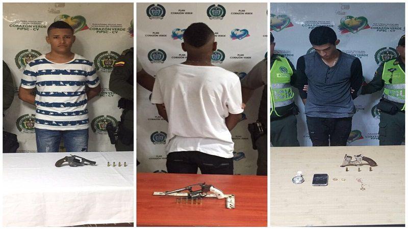 Detienen a tres jóvenes, entre ellos un menor de edad, por porte ilegal de armas