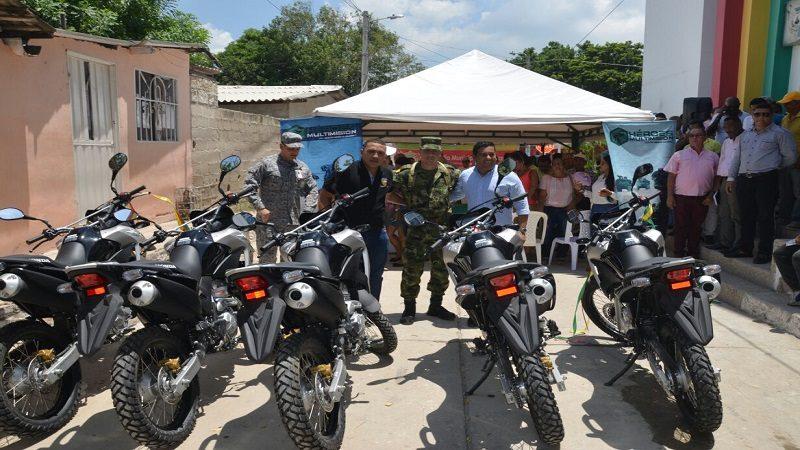 Entregan motocicletas y equipos de comunicación al Batallón Vergara y Velasco de Malambo