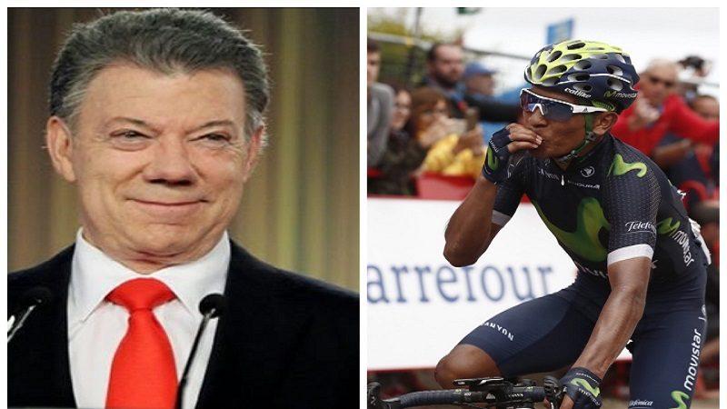 Presidente Santos felicitó a Nairo Quintana por 'brillante actuación' en el Giro de Italia