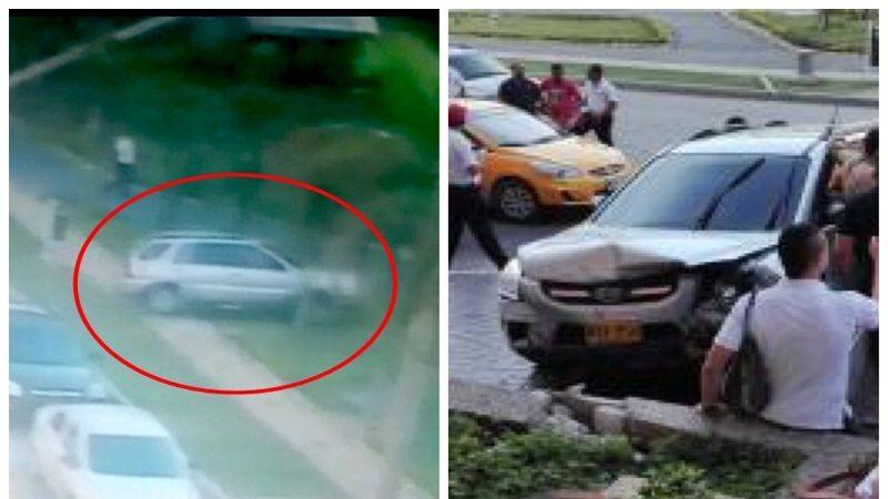 Camioneta sale 'disparada' del Buenavista y se estrella contra un muro 1