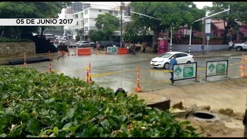 Canalización del arroyo de la 76 pasó la prueba con las lluvias de este lunes