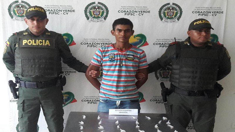 Capturan a alias 'El Cuero' vendiendo bazuco en las calles de Sabanalarga
