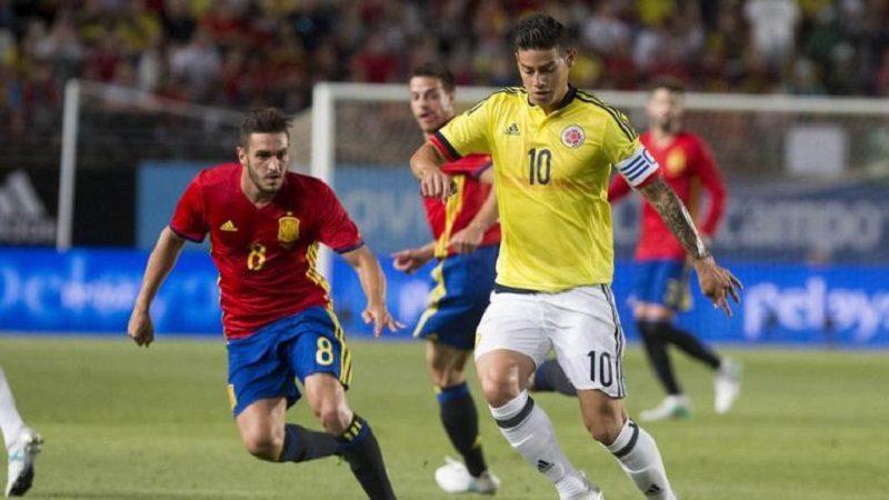 Colombia empató 2-2 en el amistoso con España
