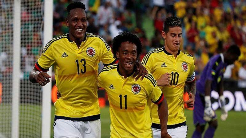 Colombia goleó 4-0 a Camerún en amistoso