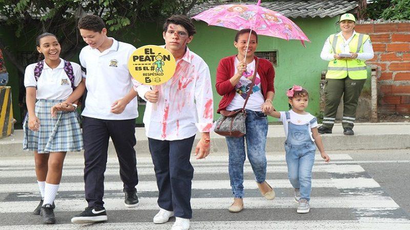 Lanzan campaña educativa para peatones en la vía Circunvalar