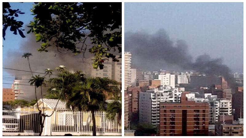 Pánico por incendio en casa de vecinos del alcalde Alejandro Char, en el norte de Barranquilla