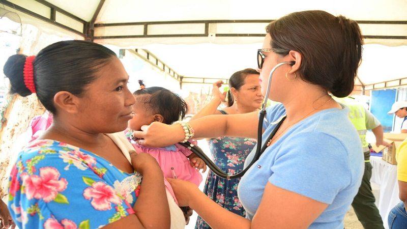 Realizan brigada de salud integral a indígenas y afrodescendientes en Soledad