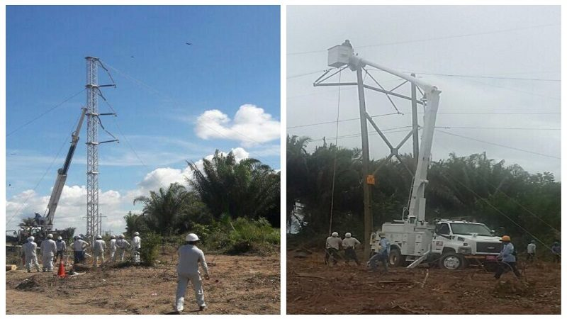 Superada emergencia eléctrica que afectó a poblaciones del Cesar, Magdalena y Bolívar