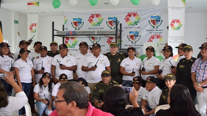 Usiacurí se fortalece con Red de Apoyo de la Policía