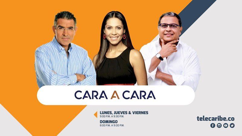 Érika Fontalvo, Jorge Cura y Óscar Montes en Cara a Cara por Telecaribe