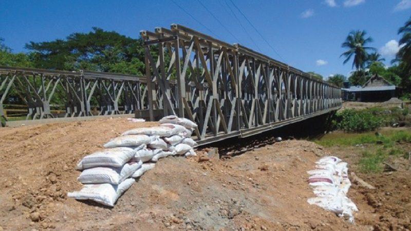 Avanza instalación del puente metálico que conectará a San Pablo con Simití en Bolívar 1