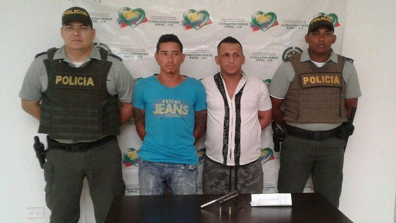 Capturan a dos atracadores en el barrio La Florida de Santo Tomás