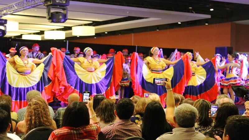 Banda Departamental de Baranoa lleva un mensaje de paz al Consulado de Colombia en Miami