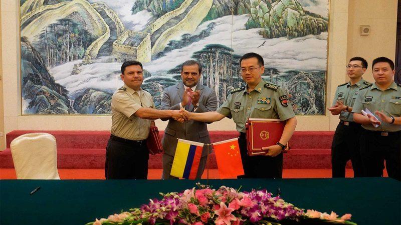 China dona 13 millones de dólares a Colombia para puentes militares y desminado