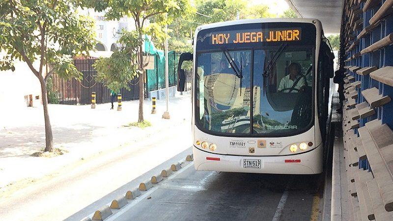 Con cuatro buses articulados adicionales, Transmetro garantiza operación al finalizar el partido Junior-Millonarios