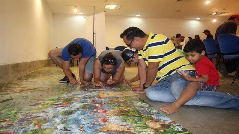 En Barranquilla se arma el rompecabezas más grande del mundo