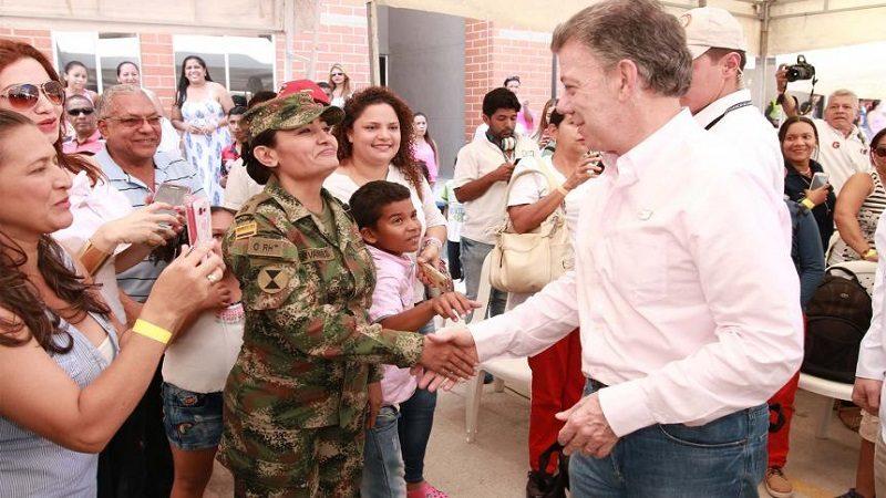 Este miércoles, Presidente Santos llega a La Paz, Cesar