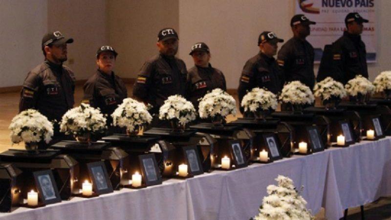 Fiscalía entrega restos óseos de varias víctimas de paramilitares en Sucre