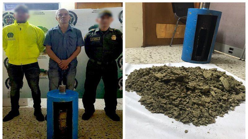 Hombre transportaba un cilindro lleno de marihuana hacia San Andrés