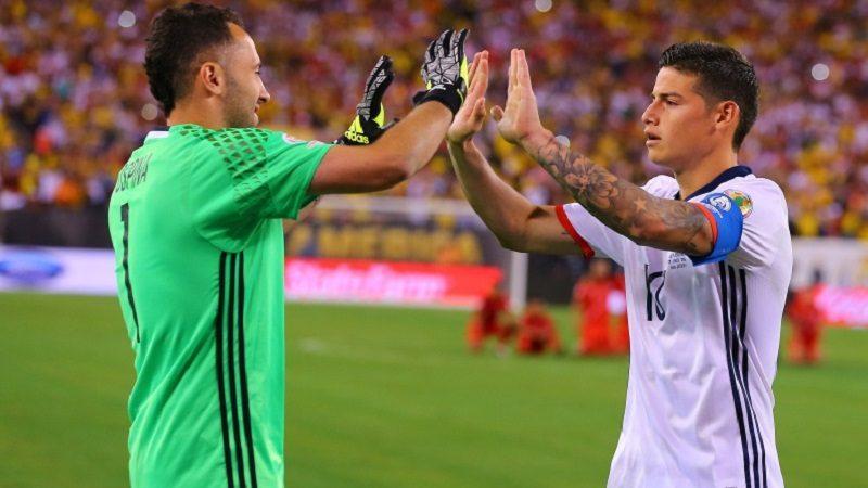 James Rodríguez y David Ospina se unieron a la Selección en Barranquilla
