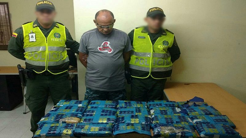 Lo capturan en el aeropuerto cuando llevaba 20 paquetes de marihuana hacia San Andrés