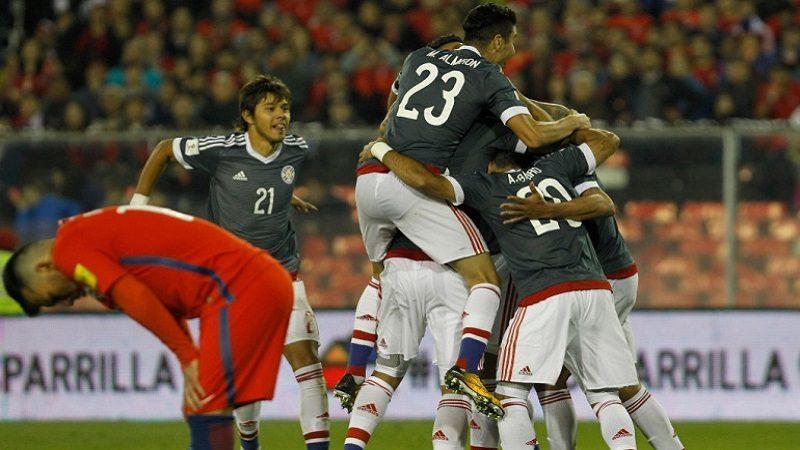 Paraguay goleó 0-3 a Chile en Santiago