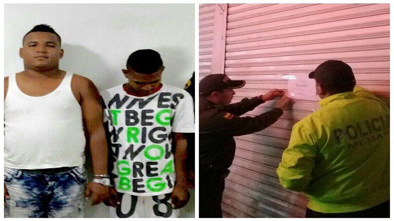 Policía capturó a 34 personas y cerró 12 establecimientos en el fin de semana