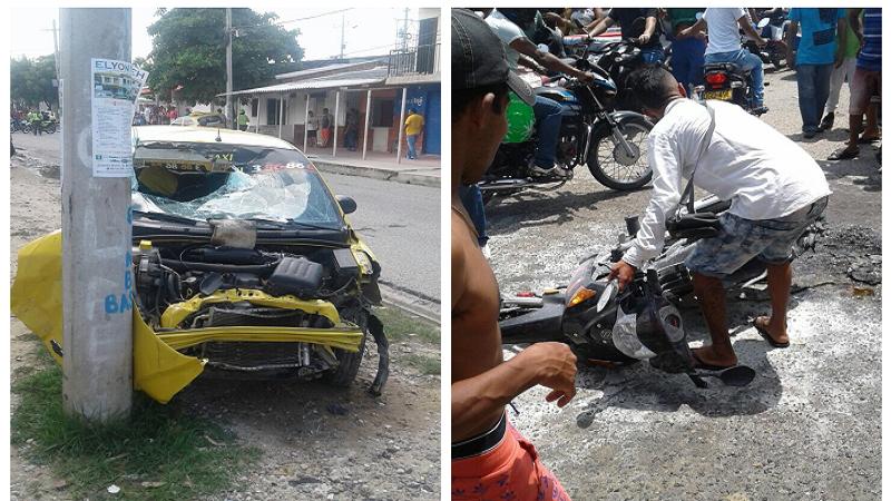 Taxista embistió a dos hombres señalados de atracar a un ciudadano en Los Olivos