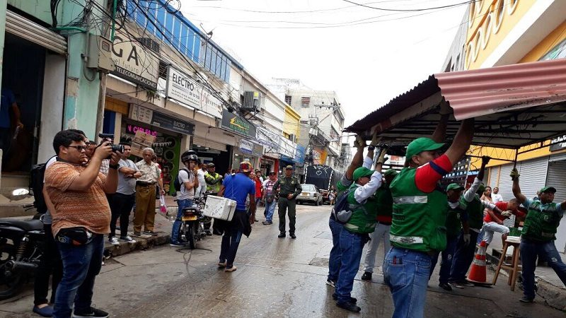 Avanza recuperación de espacio público en el centro Barranquilla