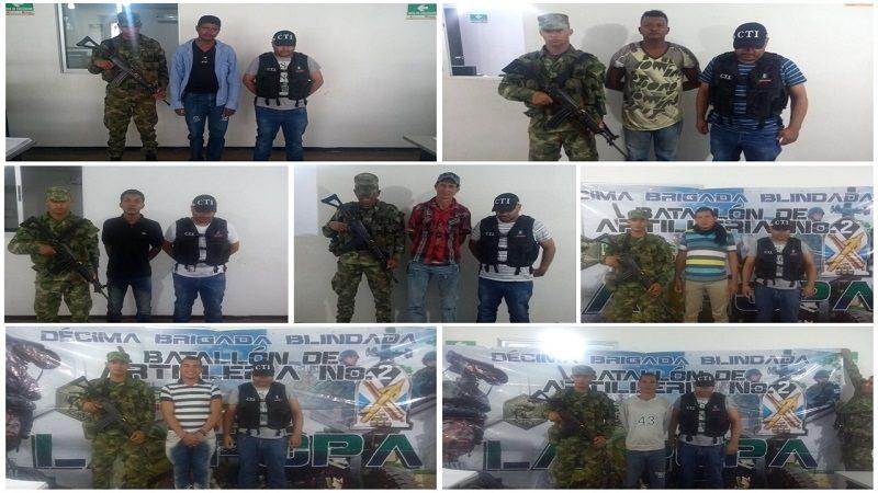 Capturan a 8 presuntos violadores de niños en el Cesar