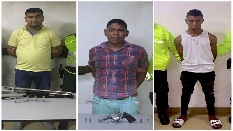 Capturan a tres delincuentes en Barranquilla, entre ellos alias Wasson, con 7 anotaciones judiciales