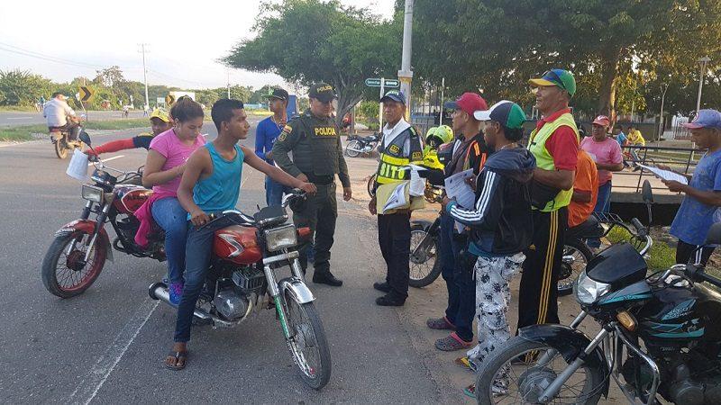 Desde el 22 de septiembre prohíben parrillero hombre en moto, en el sur de Malambo