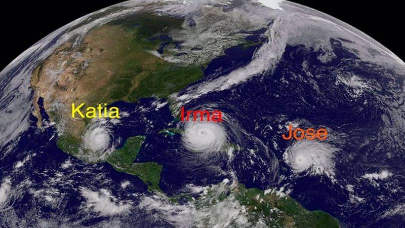 Tres huracanes apuntan hacia Florida, Antillas y costa mexicana