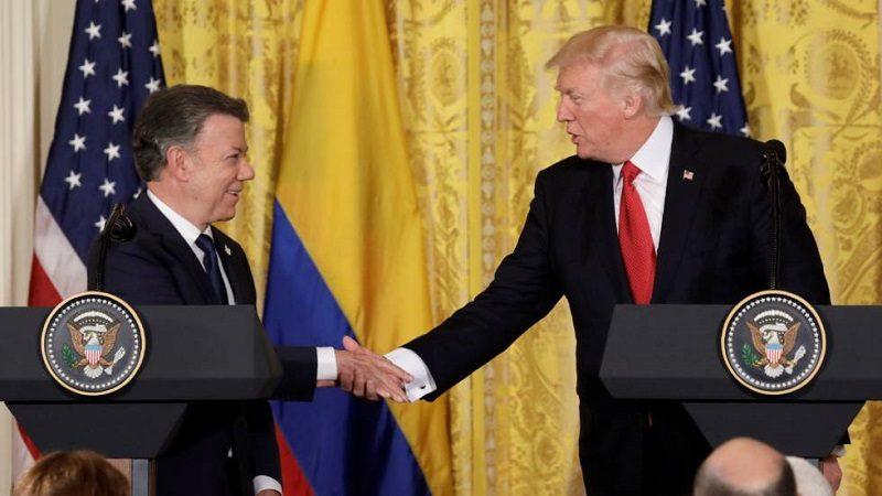 Trump y Santos evaluarán cómo presionar a Maduro en Venezuela
