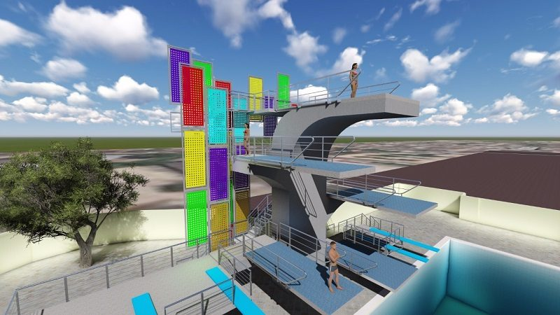 Alcalde Char da inicio a complejo acuático, con miras a los Juegos Centroamericanos