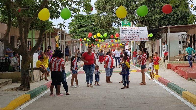 Barrio Las Malvinas estrena 8 tramos viales pavimentados