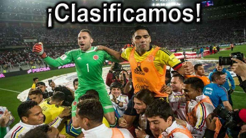 Colombia se clasificó al Mundial Rusia 2018, tras empatar con Perú 1