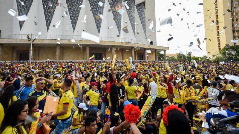 Este jueves, otra vez Fanfest en la Plaza de la Paz por el partido Colombia-Paraguay
