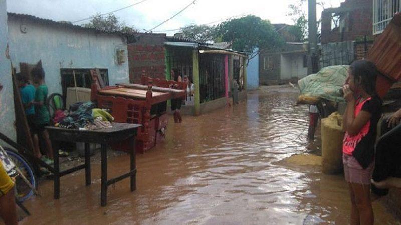 Fuerte aguacero inundó más de 30 barrios de Santa Marta