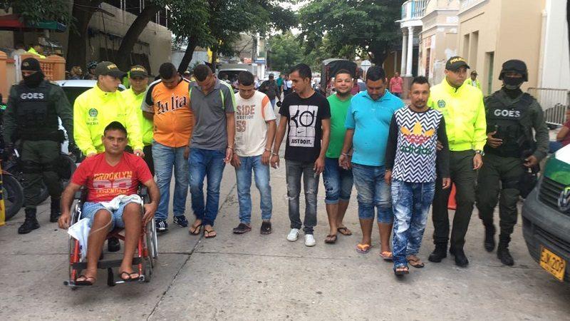 Cae banda delincuencial 'Los Goleros', dedicada al robo de motos en Barranquilla