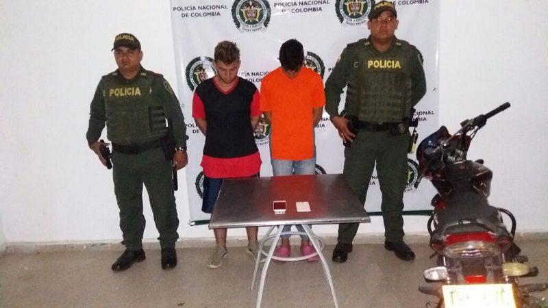 Capturan a dos hombres que robaban a mujeres en Sabanalarga