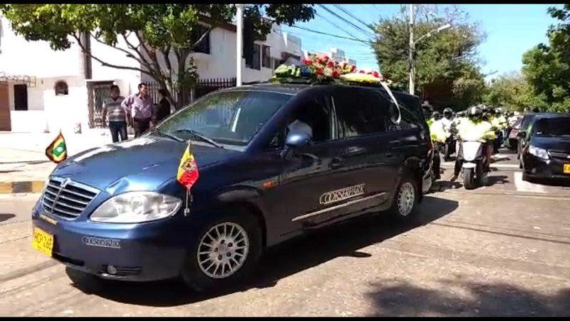 Así fue la conmovedora despedida al patrullero de la Sijín asesinado en el barrio Rebolo
