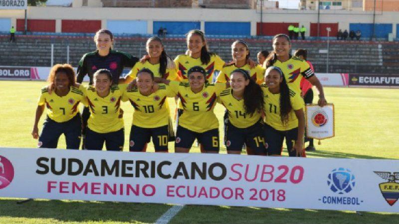 Colombia clasificó a la segunda fase del Sudamericano Sub 20 Femenino